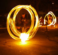 fire spinning in Grand Junction